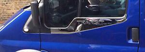 Ford Transit MK7 2006-2013 Chrome Side Door Windows Sill TRIM Cover 2pcs S.STEEL