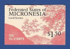 Micronesia (#33a) 1988 Local Scenes MNH booklet (precanceled)