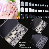 Toenail White Acrylic Manicure Nail Art Tips Foot Fake Nails Toe False Nails
