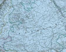 1875 MAP EUROPE BRITISH ISLES GERMANY FRANCE SWEDEN TURKEY ITALY AUSTRIA
