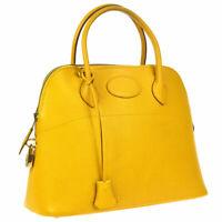 HERMES BOLIDE 31 2way Hand Bag Jaune Veau Greine Courchevel ⚪Y 30O NR14051h