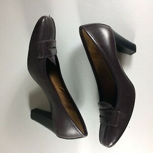 Antonio Melani Women's Size 6.5M Dark Brown Leather Pumps Shoes Career