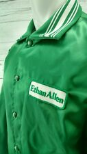 Vintage Swingster Green Satin Ethan Allen Retro Jacket XL Hipster