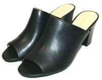 LIZ CLAIRBORNE womens slip on mules 3 in heel black dress / casual shoes NEW