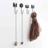 Kitchen Organizer Hanging Shelves Wall Hooks Storage Rack Tape Hook Up Hanger