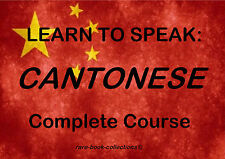 LEARN TO SPEAK CANTONESE - CHINESE LANGUAGE COURSE - 23 HRS MP3 & 2 BOOKS ON DVD