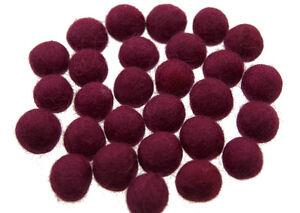 50 Perlen Bälle Von Filztasche Filz Natürlich Ø= 2.1 CM Nepal Lila BO13