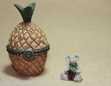 Boyds Bears Resin Virginias Welcome Pineapple w/Homer Treasure Box