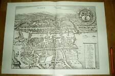 Zürich alte Ansicht Merian Druck Stich 1650 (schw) Städteansicht Schweiz