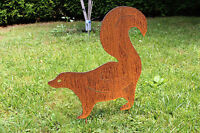EDELROST Stinktier groß Stinker Tier Skulptur Rost Gartendeko Edel Kunst Deko