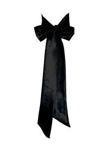 BLACK Satin Wedding Fancy Dress Party Ribbon Sash Belt Tie Band Bridesmaid Bow