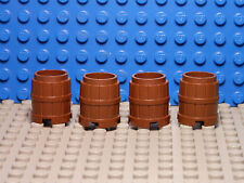 LEGO LEGOS - Set of 4 NEW Container  Barrel  2 X 2 X 2   BROWN Harry Potter 7-12