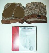 CAPEZIO FootUndeez Thong Modern Dance Shoes Adult XXL 14 15 Leopard