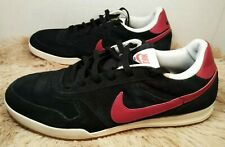 Nike Field Trainer Athletic Shoes Men's 10.5 Black Red White Gum Bottom Suede