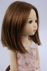 Monique JASMINE Wig Reddish Brown Size 8-9 shown on BJD Hannah by My Meadow
