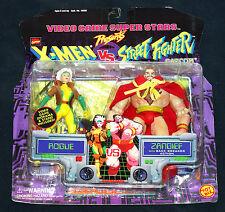 Street Fighter Marvel Rogue vs. Zangief 2 Pack Toy Biz 1998 MOC Capcom