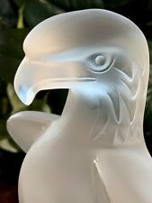 Lalique's Liberty Eagle Crystal Sculpture Signed & Authentic Excellent Condition