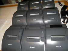 Refurbished Epson TM-U220B Serial POS Receipt Printer Gray  M188B w power supply