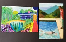 David Hockney Private Invite  cards - Highly Collectible (Hockney Garden - Pool)
