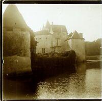 FRANCE Château de la Brède Montesquieu Photo Stereo Vintage Plaque Verre ca 1910