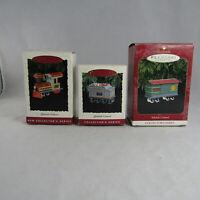 Set of 3 Hallmark Keepsake Ornament Yuletide Central 1, 3, 4 Collectors Series