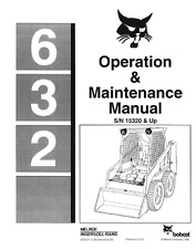 Bobcat 632 Skid Steer Loader Operation Operators Maintenance Manual CD 6556157