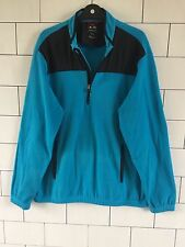TURQUOISE URBAN VINTAGE RETRO ADIDAS CLIMAWARM FLEECE SWEATSHIRT OVERHEAD UK XL