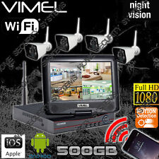House Security Camera System 500GB Farm IP Wireless Remote View Night Vision