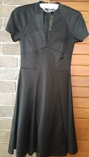 CUE black satin dress size 6 rrp$239 NWT