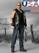 """1/6 Leather Motorcycle Jacket Jeans Set For 12"""" PHICEN Male Muscular M33 M34 M35"""