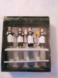 Guy Buffet Collection by Boston Warehouse Waiters 4 Spreaders In box 1996