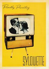 post card 📺 Vintage style advertising #47 Proudly presenting SYLOUETTE TV set