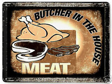 BUTCHER STEAK HOUSE SIGN BBQ barbecue deli VINTAGE style KITCHEN wall decor 038