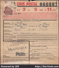FRANCE COLIS POSTAUX N°208 SUR BULLETIN D'EXPEDITION DU 29/09/1943