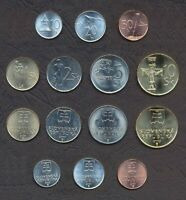 SLOVAKIA FULL COIN SET 10+20+50 Halierov 1+2+5+10 Korun UNC 200_COIN_SETS_HERE!!