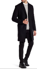 HUGO BOSS Migor Checked Wool Blend Top Coat CHRCL Sz 46R  $595.00
