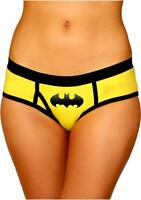 Batman Boyshort Panties Logo Large Yellow Black Comic Super Hero Fan Lingerie