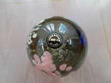 "PHOENICIAN GLASS PAPERWEIGHT WITH LABEL & ETCHED ""PHOENICIAN MALTA 1982"" TO BASE"