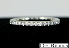 $4,000 De Beers Classic Platinum Full Pave Round Diamond Eternity Wedding Band