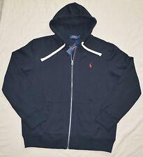New 4XLT 4XL TALL POLO RALPH LAUREN Mens Fleece Hoodie Jacket black 4XT hoody