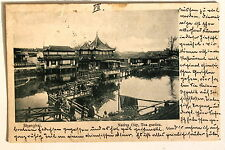 24654 PC Postcard china shanghai native city tea garden 1902 ak té jardín