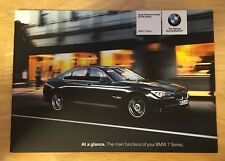 2011 BMW 7 Series Quick Reference Guide OEM- No Case