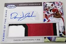 2017 17 DAVID JOHNSON CERTIFIED FABRIC OF GAME PATCH JERSEY RELIC AUTO # / 25