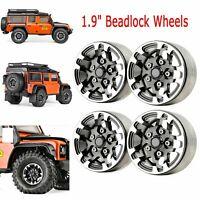 """GRC Aluminum Beadlock 1.9"""" Wheels Rims for 1/10 RC Crawler TRX4 D110 #GAX0138D"""