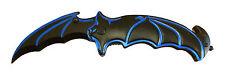 Batman Knife BAT FACE!! Spring Assisted Opening Folding Blade BLACK w/Blue