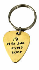 I'd Pick You Every Time Key Chain Personalized Keychain, Couples Gift, Guitar