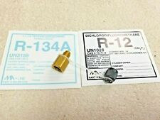 Refrigerant R134a to R12 Adapter With Cap & Retaining Strap, New