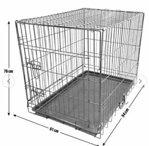 King Pets Single Door Pet Cage Metal and Mesh - Medium