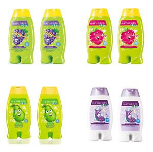 2x Avon Naturals Kids 2-in-1 Body Wash & Bubble Bath 250ml ~ Twin Pack