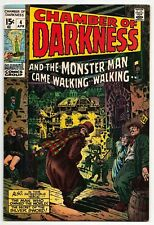 CHAMBER OF DARKNESS #4 APRIL 1969 VF- 7.5 MARVEL COMICS - FIRST CONAN PROTOTYPE